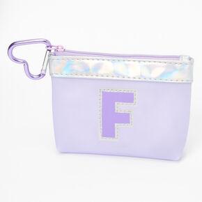 Porte-monnaie à initiale violette - F,
