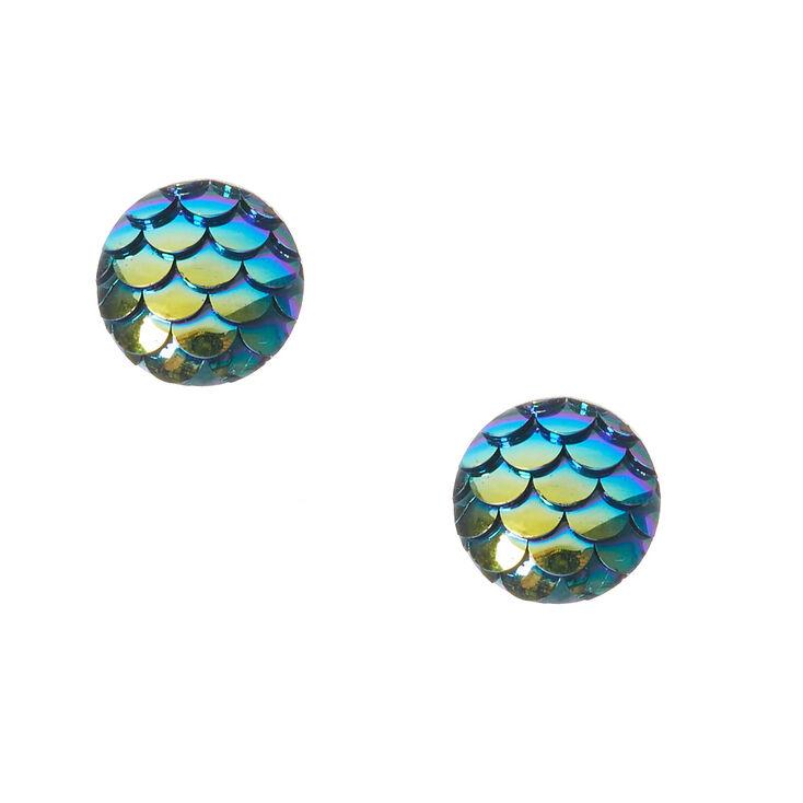 Blue fin mermaid stud earrings claire s