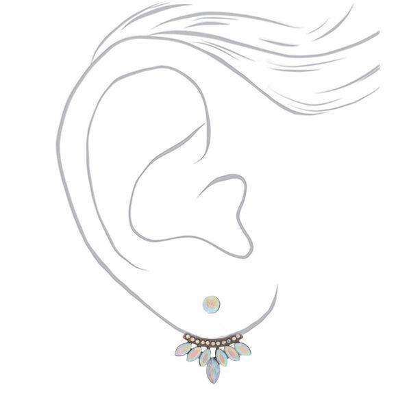 Claire's - hematite crystal ear jacket earrings - 2