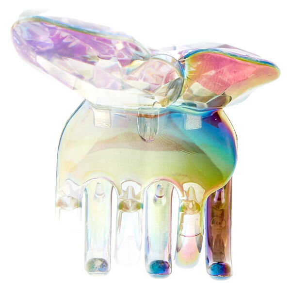 Claire's - large iridescent butterfly hair claw - 2