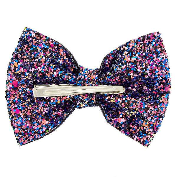 Claire's - space glitter hair bow clip - 2