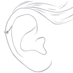 Silver Titanium 20G Crystal Cartilage Hoop Earring,