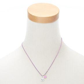 Bunny Charm Jewelry Set - Purple, 2 Pack,