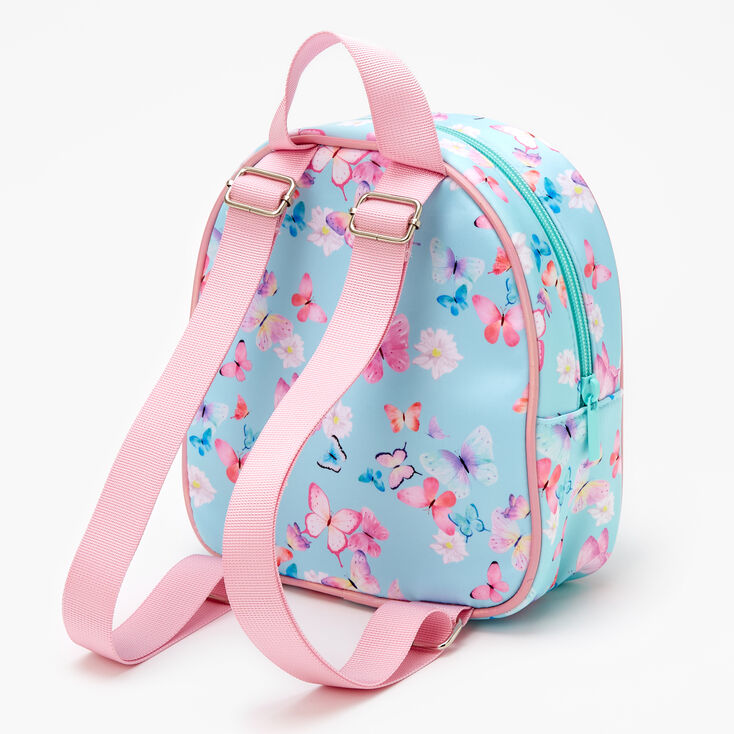 Claire's Club Butterfly Mini Backpack - Mint,