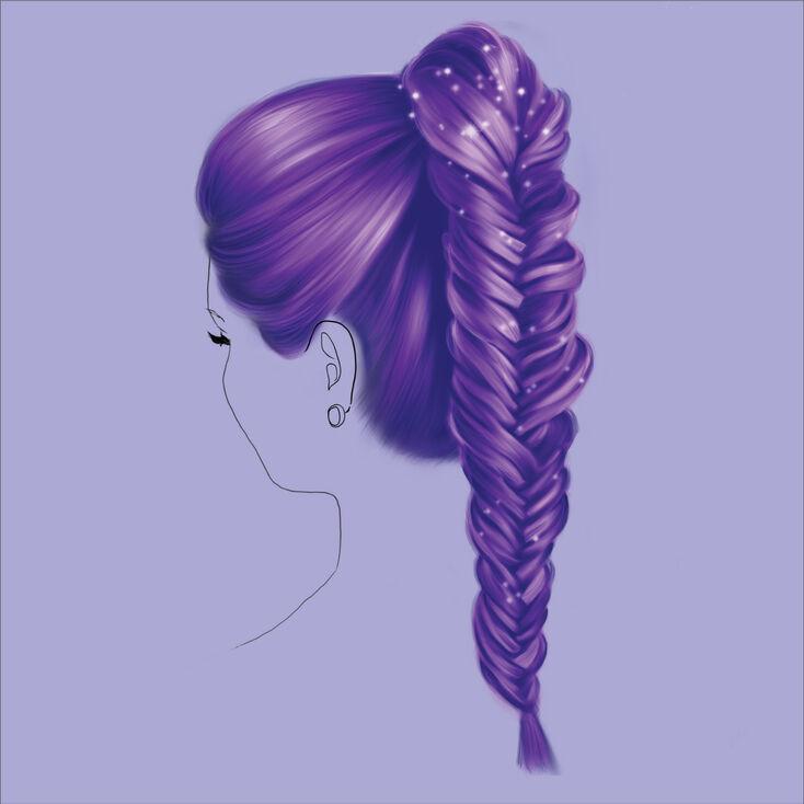 Kit d'accessoires de coiffure pour queue de cheval tressée en queue de poisson,