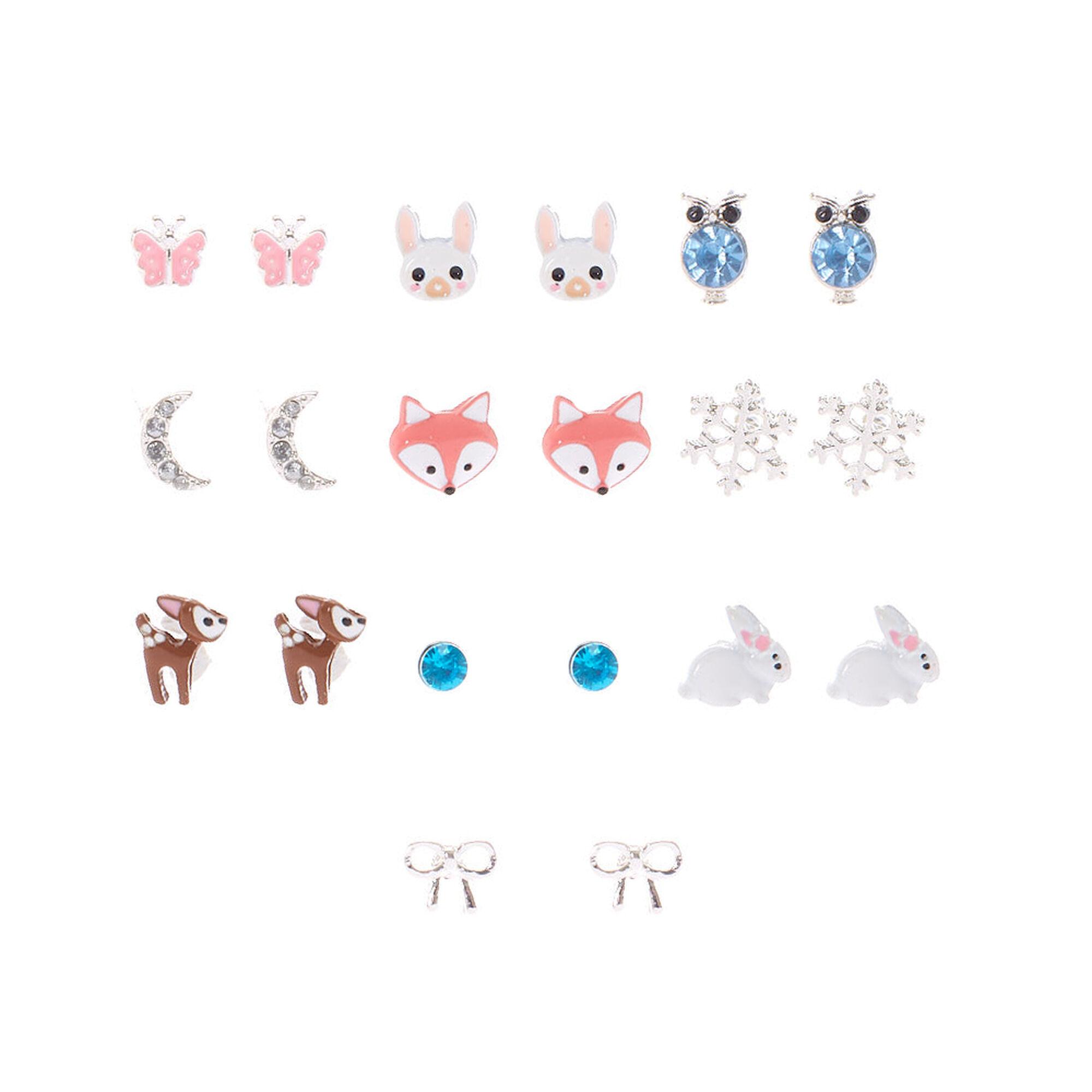 Animal Stud Earring Set - 10 Pack, ...