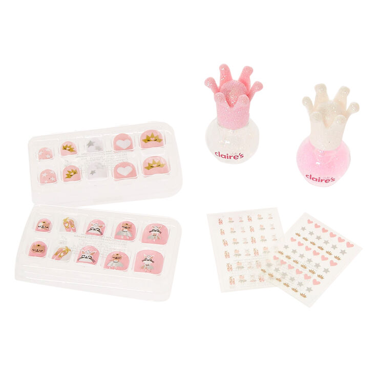 Claire's Club Pink Glitter Ballerina Nail Art Set,