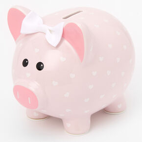 Claire's Club Pink Spotted Pig Piggy Bank,