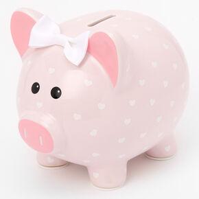 Tirelire cochon rose à pois Claire'sClub,