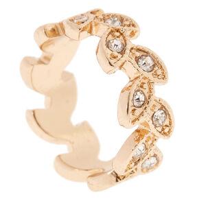 Gold Leaf Midi Ring,