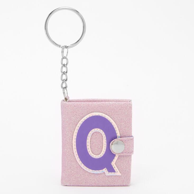 Initial Mini Journal Keychain - Q,