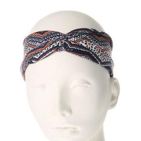 Zig Zag Floral Headwrap,