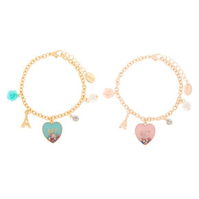 Paris Love Chain Friendship Bracelets - 2 Pack,