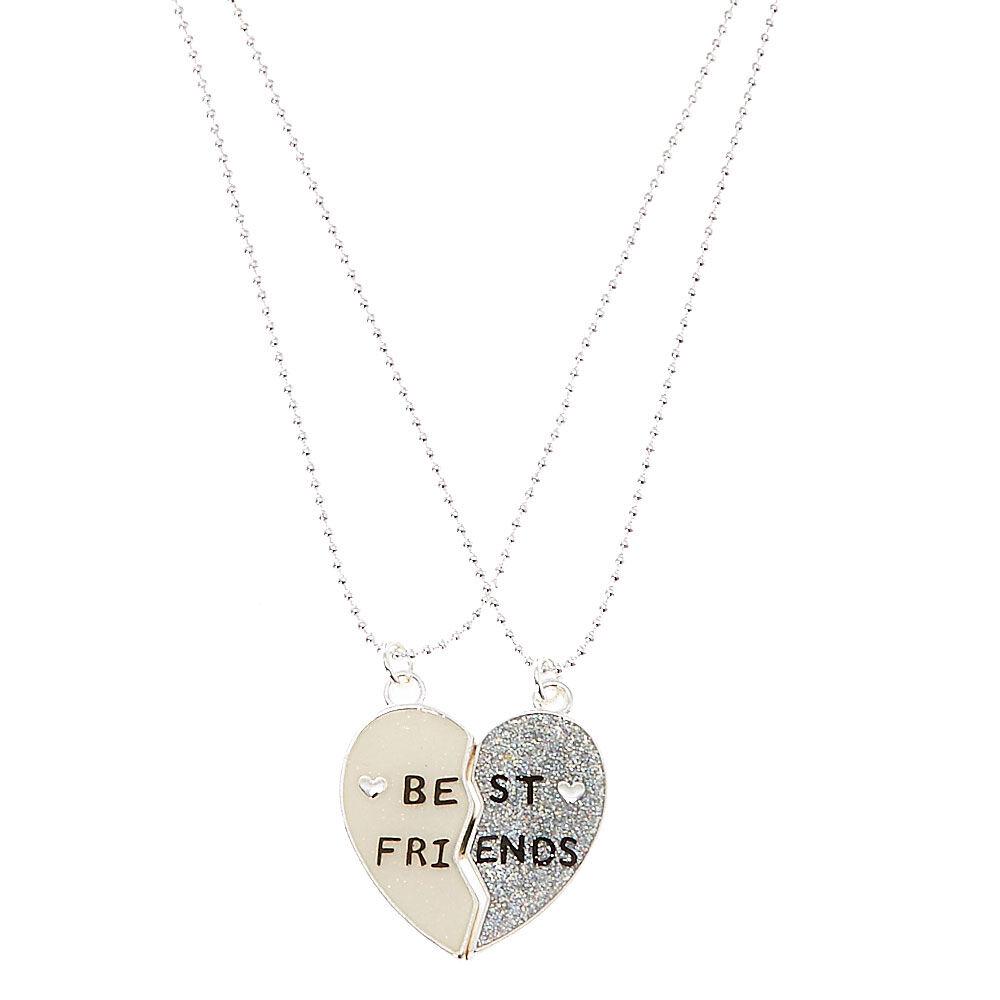 BFF Best Friends Mood Broken Hearts Friendship Necklace Set
