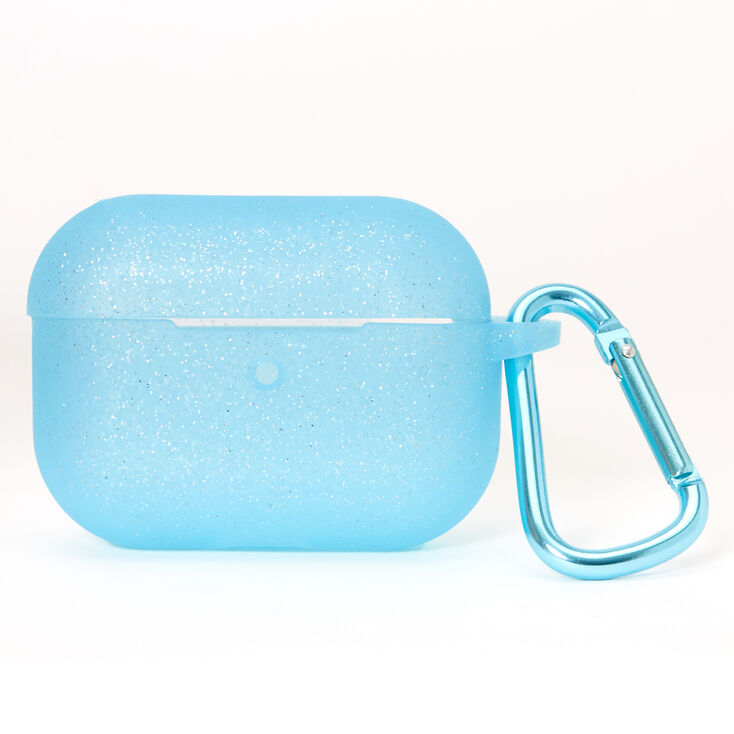 Blue Glitter Silicone Earbud Case Cover - Compatible With Apple AirPods pro®,