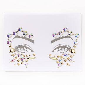 Bijoux de peau pour les yeux étoile et losange - Couleur dorée,