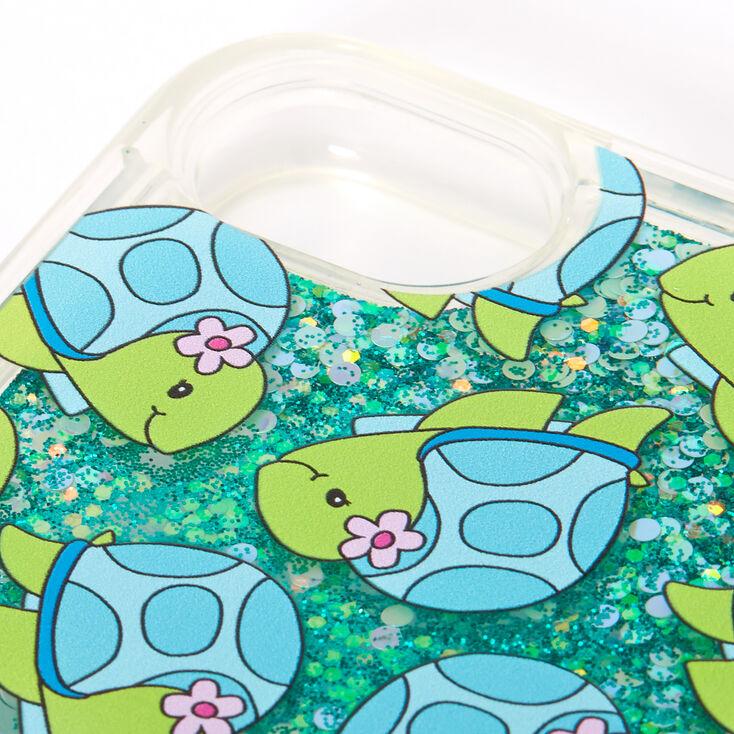 Tessa the Turtle Turquoise Glitter Liquid Fill Phone Case - Fits iPhone 6/7/8/SE,
