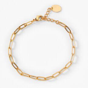 18kt Gold Plated Chain Link Bracelet,