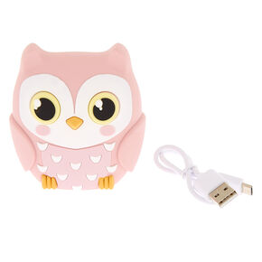 MojiPower® Owl Battery Power Bank - Pink,
