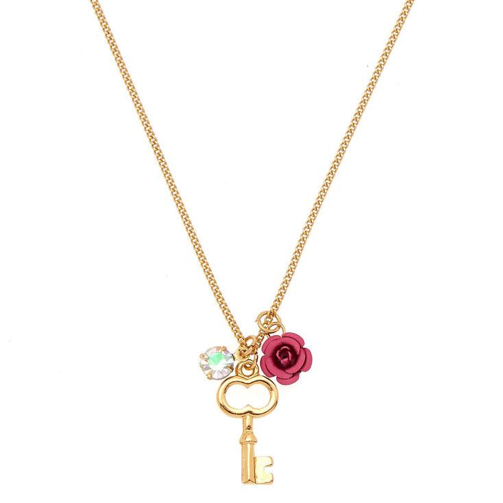 2adb053bd13cc5 Gold Key Pendant Necklace | Claire's US