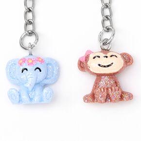 Porte-clés petits animaux pailletés Best Friends - Lot de 5,