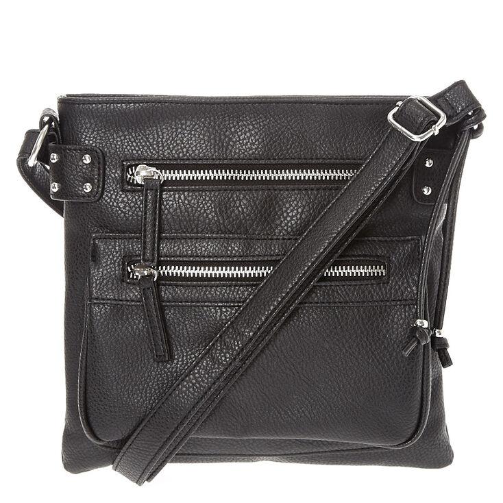 d332635dd Black Faux Leather Crossbody Bag | Claire's US
