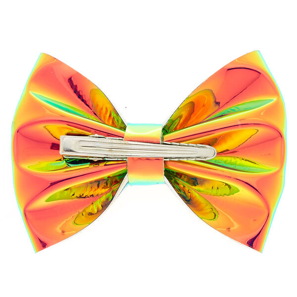 Claire's - holographic mini hair bow clip - 2
