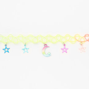 Rainbow Celestial Tattoo Choker Necklace,