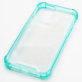 Mint Glitter Clear Phone Case - Fits iPhone 12/12 Pro,