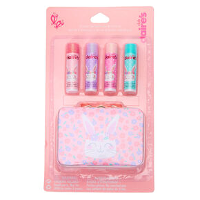 Claire's Club Claire the Bunny Lip Balm Set & Tin Box - 4 Pack,