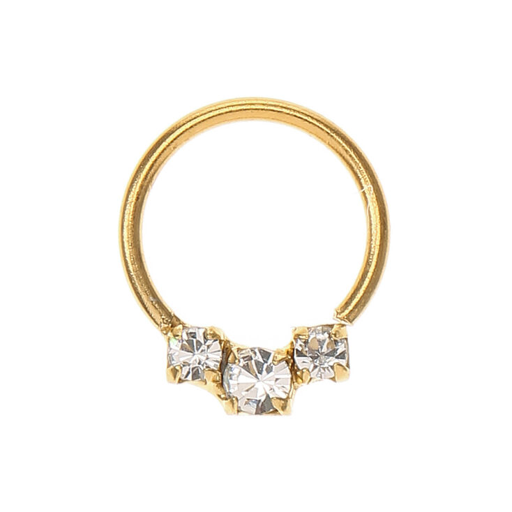 Gold Embellished Cartilage Hoop Earring   Claire's