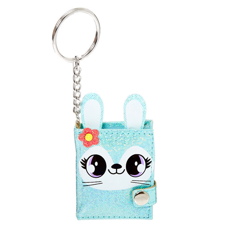 Claires Plush Lock Diary for Girls Mint 6x8 Inches Includes Lock with 2 Keys Jade The Bunny
