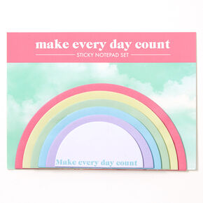 Make Everyday Count Rainbow Sticky Notepad Set,