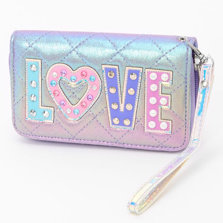 Pochette poignet «Love» arc-en-ciel - Violet,