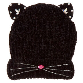 Go to Product: Embellished Cat Beanie - Black from Claires