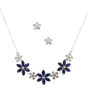 Silver Bloom Jewellery Set - Blue, 2 Pack,