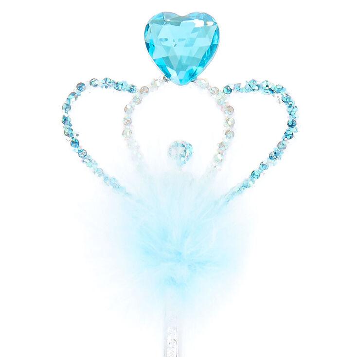 Claire's Club Heart Gem Wand - Blue,