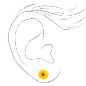 Clous d'oreilles cœurs et fleurs - Lot de 6,