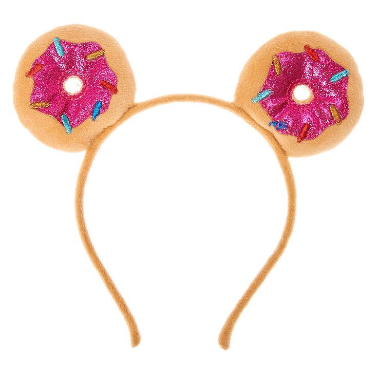 Serre-tête oreilles de chat donut scintillantes,
