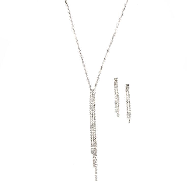 Silver Fringe Jewellery Set - 2 Pack,