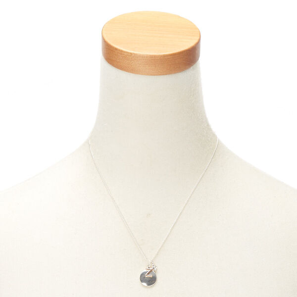 Claire's - mixed metal initial charm pendant necklace - 2