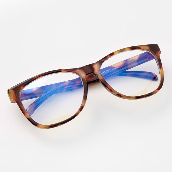 Claire's Club Tortoiseshell Rectangle Clear Lens Frames,
