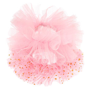Claire's Club Small Star Tulle Hair Scrunchies - Pink, 2 Pack,