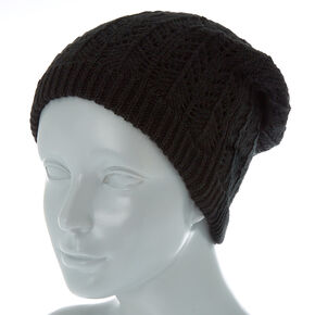 7d8ea984a7c Double Layer Knit Beanie - Black