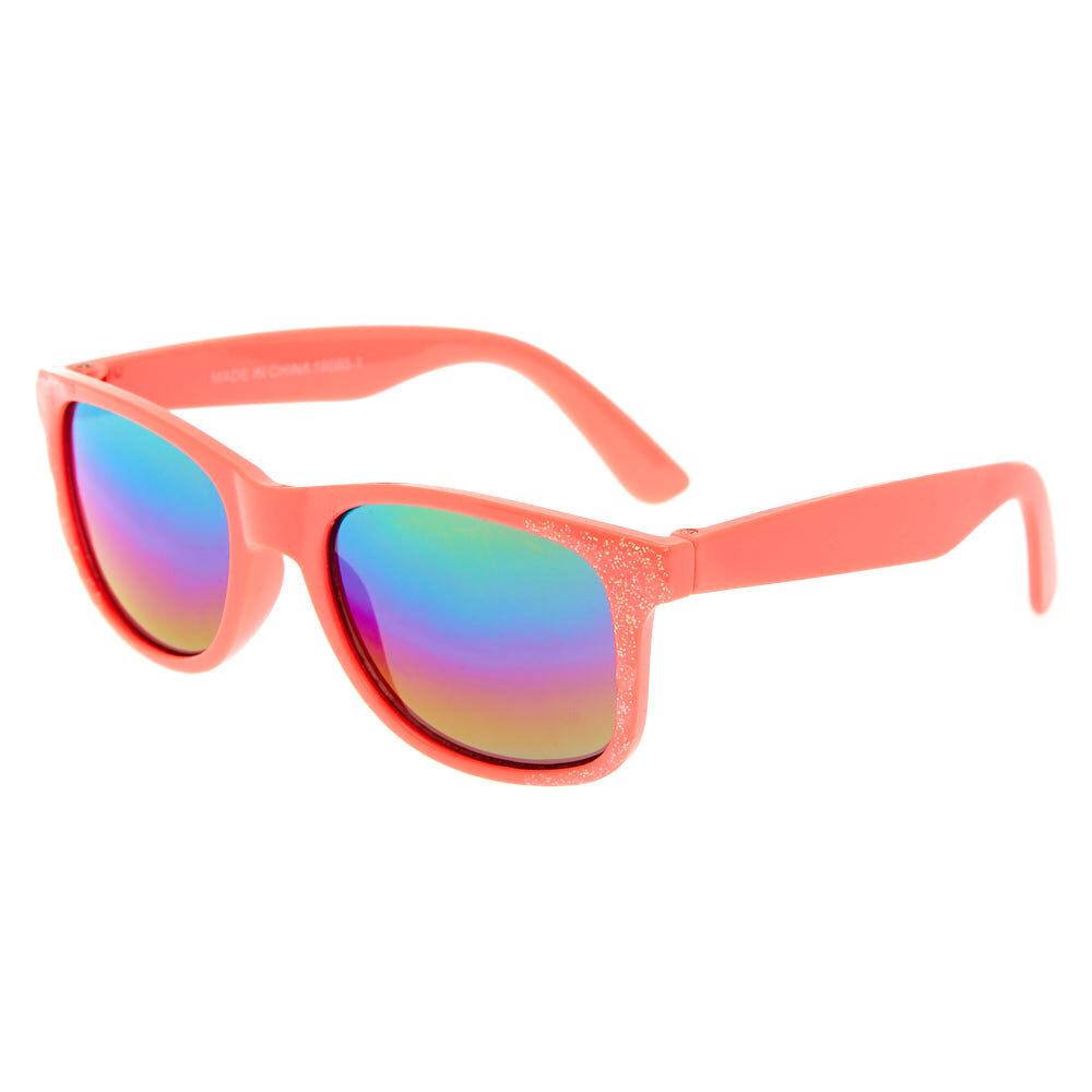 Claire's Club Glitter Sunglasses Coral