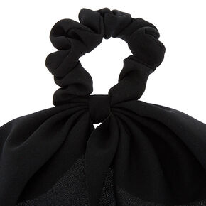 Small Hair Scrunchie Scarf - Black,