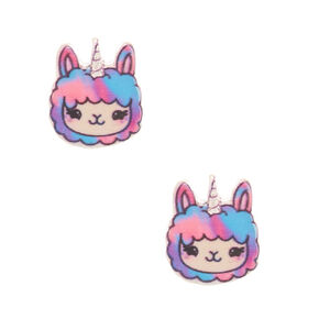 Lala the Llamacorn Stud Earrings,