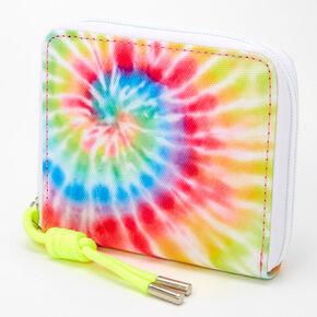 Tie Dye Spiral Mini Zip Wallet - Neon,