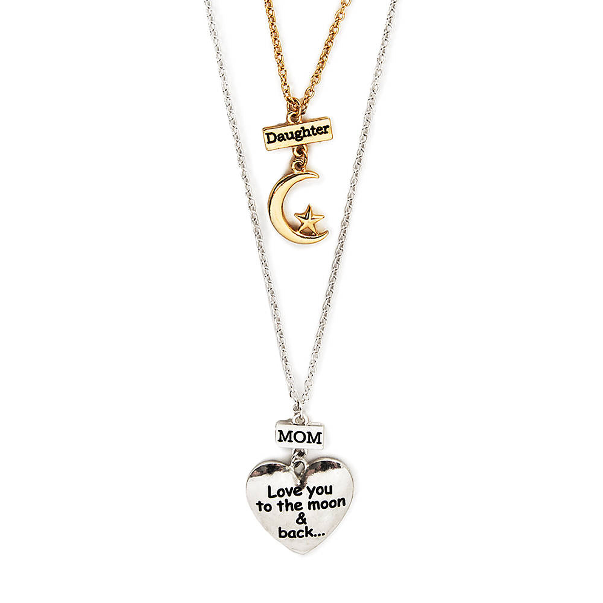 Mother daughter to the moon back pendant necklaces claires us mother daughter to the moon amp back pendant necklaces aloadofball Images