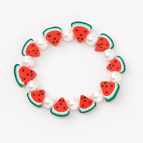 Watermelon Slices Beaded Stretch Bracelet,